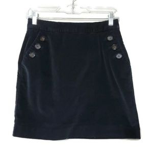 Banana republic corduroy mini skirt black